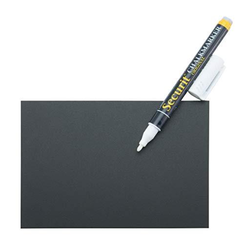 Securit Set da 20 lavagnette Tag - formato A6 - 1 pennarello bianco + 4 Supporti con punta + 2...