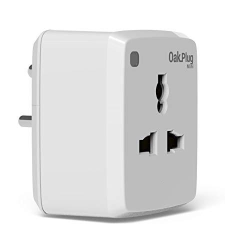 OAKTER SELF DRIVING HOMES WiFi Smart Plug OakPlug Mini for Low Powered appliances with Amazon Alexa Compatibility (6 Amp Power Socket)
