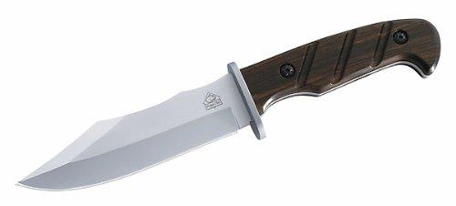 Puma TEC Gürtelmesser, Stahl 420, Sandelholz, Lederscheide
