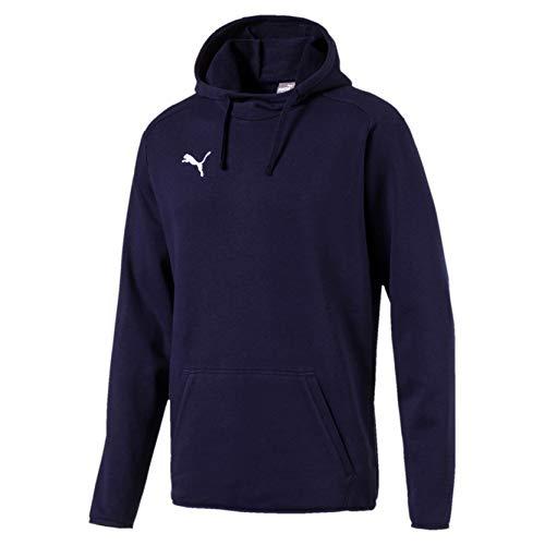 PUMA Liga Casuals Hoody, Felpa con Cappuccio Uomo, Blu (Peacoat/White), XL