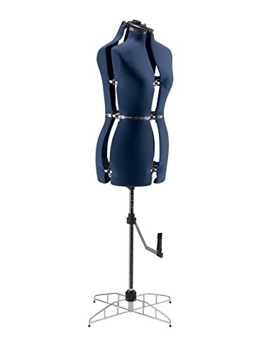 """Singer Sewing Small/Medium Dress Form with 13 Individual Adjustments (33-41"""" Bust, 25-33"""" Waist, 36-44"""" Hips, 15""""+ Neck, Blue)"""