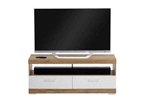 AVANTI TRENDSTORE - Bristo - Mobile TV con cassetti e scompartimenti aperti, in laminato di quercia...