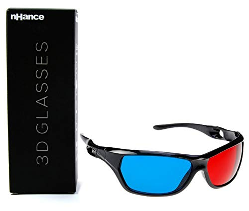 DOMO nHance CM610P Anaglyph Passive Cyan and Magenta 3D Glasses,Black