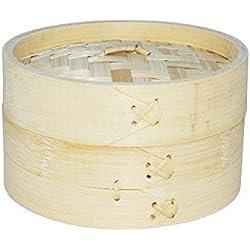 Cestello in bambù per cottura al vapore