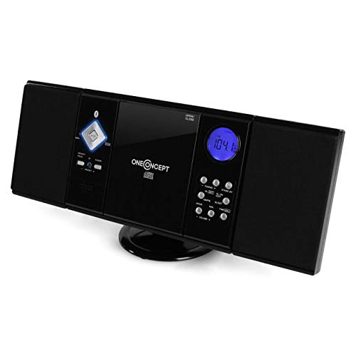 oneConcept V-12-BT • OV2 • Mini Stereo • Impianto Stereo • Stereo HiFi • Schermo LCD •...