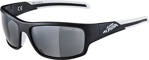 Alpina Sonnenbrille Amition TESTIDO Sportbrille, black matt-white, One Size