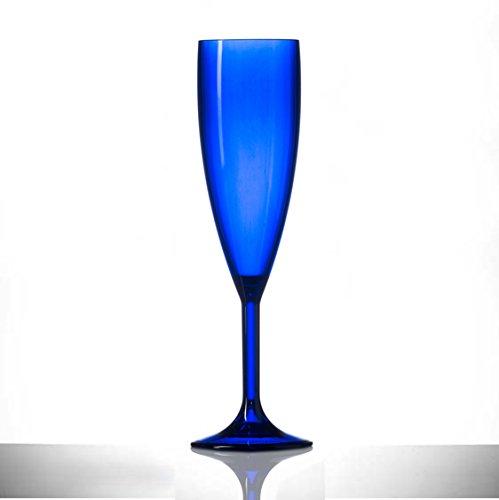 Glassjacks Flute da Champagne Blu in plastica policarbonato, Confezione da 12, 177 g, qualità...