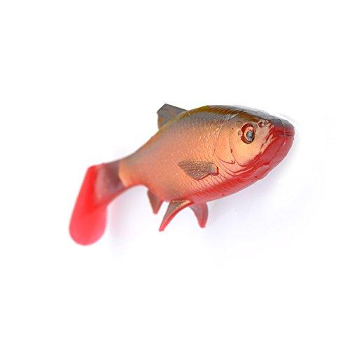 Savage Gear 3D FIUME SCARAFAGGIO - 2 gomma pesci ROSSO OCCHI PER ROTATORIO da pesca gomma gomma ALOSA SWIMBAIT esche per luccio, luccio esca - softbait - SANGUE pancia, 18cm - 70g