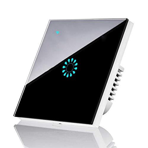 1 Gang interruttore wifi luce, leegoal telecomando wireless Smart Light switch compatibile con Alexa/Google home, Touch Control interruttore a parete per casa camera da letto cucina (nero(1 gang))