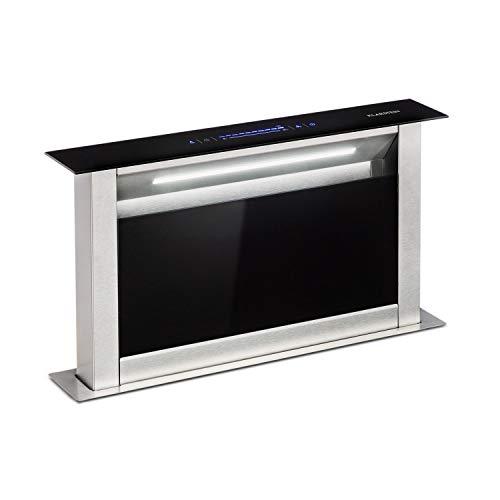 KLARSTEIN Royal Flush Eco Tisch - Cappa Aspirante, Retrattile, 60 cm, Portata Scarico: 458 m³/h,...