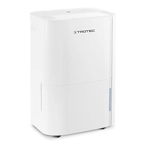 TROTEC TTK 66 E Déshumidificateur d'air, Déshumidificateur Electrique, Déshumidificateur Portable, Absorbeur d'humidité, Déshumidification Max. 24 l/j, pour 50 m² Max, Hygrostat intégré