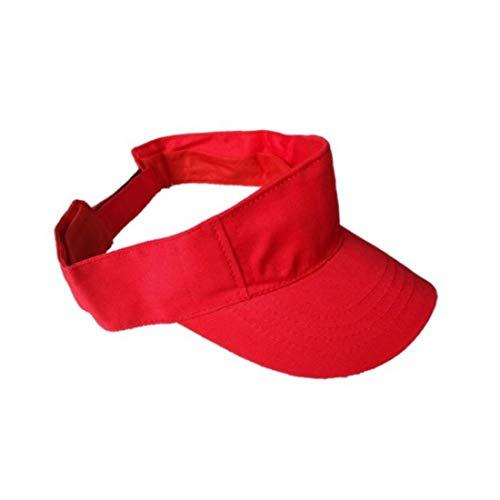 Starstep Red Plain Sun Visor Cap/hat for Girls/Boys