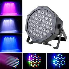 SHOPEE Branded Dj Lights 36 LEDs Dmx512 RGB Color Mixing Wash Par Light for Disco Diwali Christmas Wedding Party Show Live Concert Stage Lighting (Black)