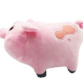 Good Night Gravity Falls Pink Pig - Peluche de peluche, peluche, regalo de muñeca, 18 cm