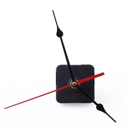 Gleader Movimento Meccanismo dell'orologio Nero Ora Minuti secondo lancetta rossa fai da te...