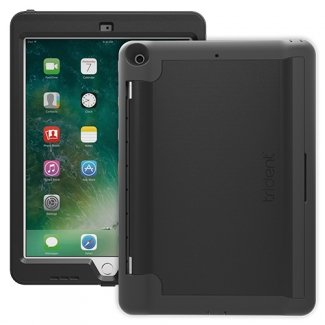 Trident Academia Series Drop Protection Built-In Kick Stand Case for 2017 iPad 9.7 Inch - AAIP3K0, Black