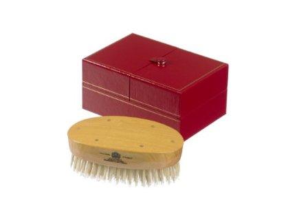Kent-Cepillo-de-pelo-ovalado-para-hombre-hecho-a-mano-color-blanco
