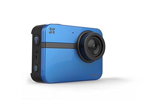 Ezviz S1 Sports Camera, Full HD, Foto 16 Megapixels, WiFi, Bluetooth 4.0, Obiettivo 152°, Custodia Waterproof e Supporti Adesivi Inclusi, Blu