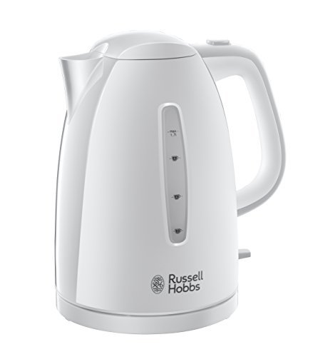 Russell Hobbs Textures Plastic Kettle 21270, 1.7 L, 3000 W - White