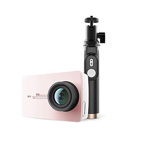 YI Action Camera 4K con Selfie Stick Bluetooth Remote Action Cam 12MP con LCD Touch Screen 5,56 cm (2,2') e WiFi,App per iOS/Andriod
