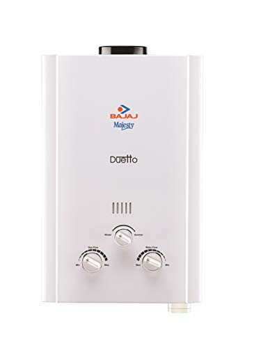Bajaj Majesty Duetto LPG 6-Litre Water Heater (White)