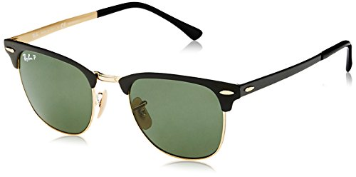 Ray-Ban Polarized Square Unisex Sunglasses - (0RB3716187/5851|50|Polar Green Color)