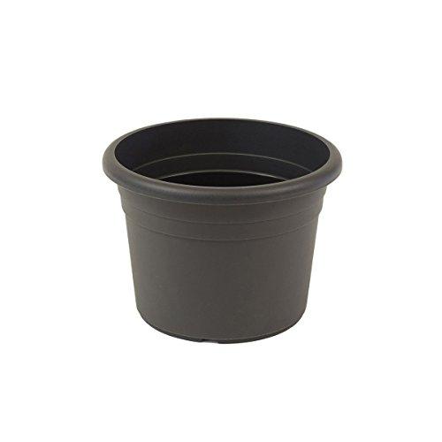 greemotion Pflanzkübel Fiona Anthrazit-Grau - Blumentopf 40cm - 18L Blumenkübel rund - Übertopf UV-beständiger Kunststoff - Pflanztopf frostsicher - Pflanzgefäß mit Bodenlöchern - Pflanzen-Zubehör