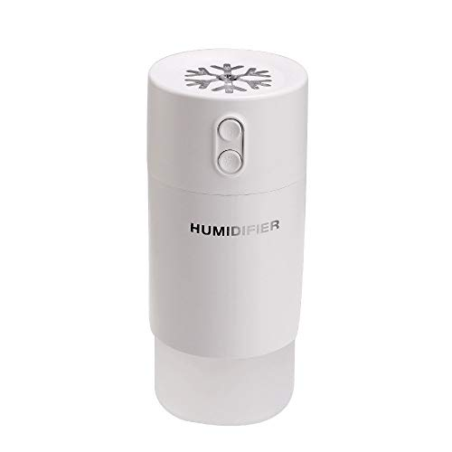 3 in 1 Luftbefeuchter Mini Licht LED Luftbefeuchter Aroma Diffuser Duftöldiffusor Luftdiffusor Zerstäuber Raumbefeuchter Mit USB Int und Fan Perfekt für Zuhause Büro Auto (Weiß)