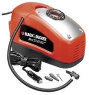 BLACK+DECKER ASI300-QS Compresseur filaire - 11 bar - Compatible allume-cigare (12v) et prise domestique - écran lumineux pour le dépannage de nuit - compact - adapté à tous types de pneus