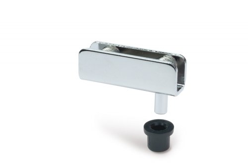 Glastür-Scharnier/Drehscharnier für Vitrinen, für Glas 4-6 mm, glanzverchromt, 1 Paar