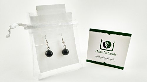 Shungite Little Spheres Earrings Guaranteed Authentic Highest Quality  Russian Natural Healing Stone from Karelia – EMF Radiation Protection,  Chakra