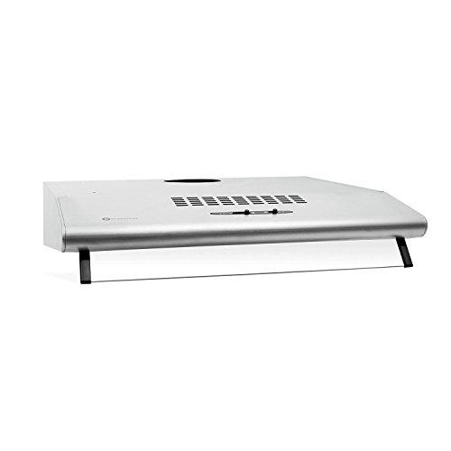 Klarstein UW60SR cappa d'aspirazione da cucina montaggio a parete (60cm, 190 m³/h, 3 livelli, 2...