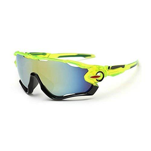 Kry gafas de sol para deportes, UV400, para conductor, de golf, para hombre, Golf, Pesca, Montura de metal irrompible, hombre, color Black & Green, tamaño 145mm * 50mm * 122mm