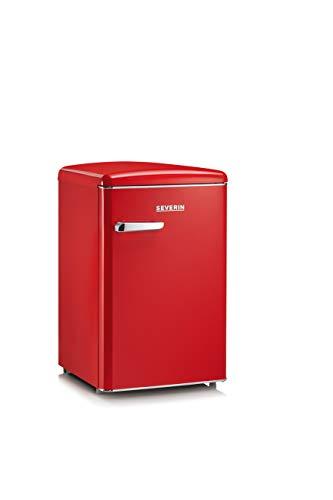 Severin RKS 8830, Frigorifero - Congelatore 106 Litri, Design Retrò, Colore Rosso
