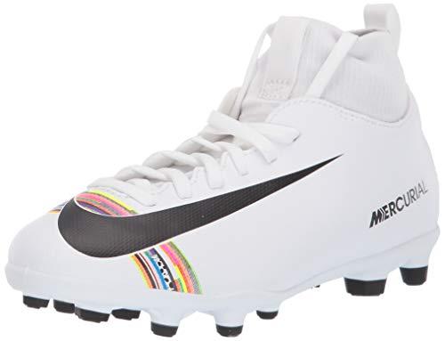 Nike Superfly 6 Club Cr7 MG, Scarpe da Calcio Unisex - Bambini, Bianco (White/Black/White 109), 35 EU (2.5 UK)
