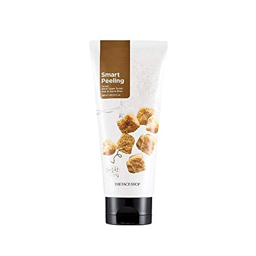 The Face Shop Smart Peeling Honey Black Sugar Scrub Gentle Exfoliator for Tan Removal, Whiteheads and Blackheads|for Normal to Oily Skin,120ml