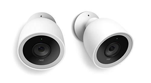 Nest NC1200IT Videocamera di Sicurezza, Confezione da 2 Pezzi, Bianco, Set di 2