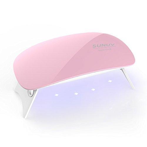 SUNUV SUNmini 6W UV Lampade LED per Gel Unghie,2 Timer Preimpostati (45s, 60s)