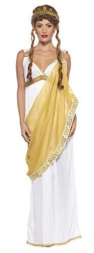 Smiffys Disfraz de Helena de Troya, blanco y dorado, vestido y tiara