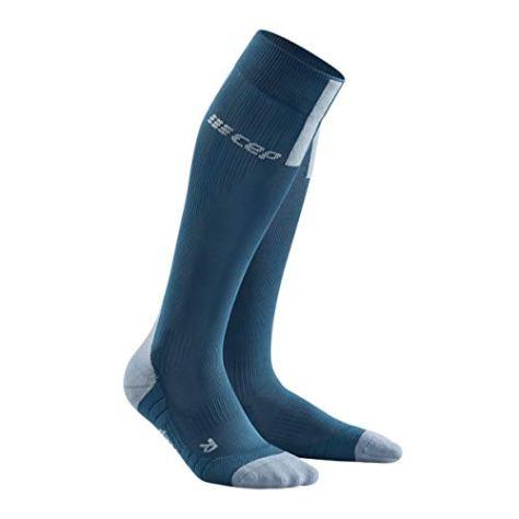CEP - Run Socks 3.0 für Damen   Kompressionsstrumpf mit präzisem Druckverlauf in blau/grau   Größe III