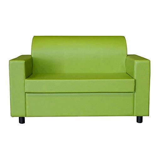 visson Divano 2 Posti Con Braccioli Divanetto Attesa Design In Eco Pelle Verde