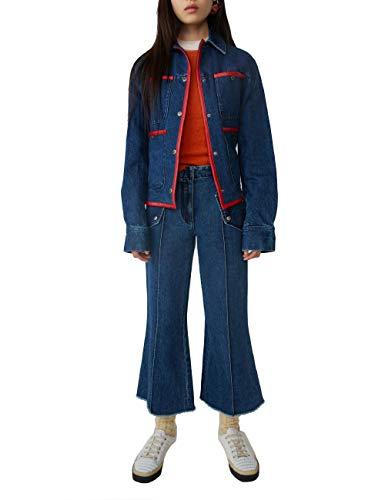 ACNE STUDIOS Damen Ak0031838 Blau Viskose Jeans