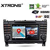 "XTRONS 7"" Touch Screen Autoradio mit Android 7.1 Quad-Core DVD-Player HDMI Autostereo unterstützt 3G 4G Bluetooth4.0 2GB RAM 16GB ROM DAB & OBD2 TPMS FÜR Mercedes-Benz"