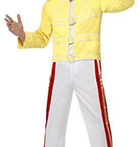 Smiffys 48299L Disfraz de Reina Freddie Mercury, amarillo, 106 - 101 cm
