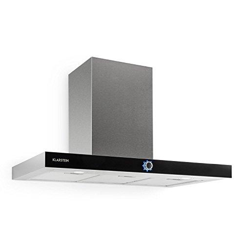Klarstein Matthea Cappa Aspirante da cucina a parete in acciaio (90 cm, capacità di aspirazione...
