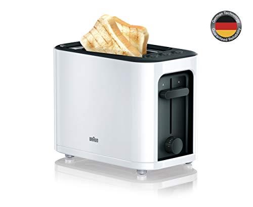 Braun HT3000WH - Tostapane con 2fessure, 7livelli di doratura, bianco, 1000