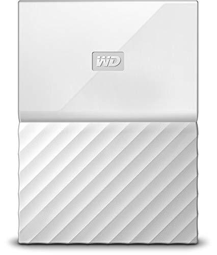 WD 1TB My Passport Hard Disk Esterno Portatile, USB 3.0, Bianco - WDBYFT0010BWT-WESN