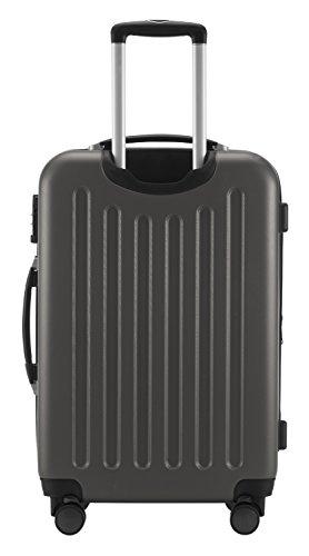 HAUPTSTADTKOFFER® Hartschalen Koffer SPREE 1203 · NEU 4 Doppel-Rollen · MATT · TSA Zahlenschloss · + KOFFERANHÄNGER (Set, Graphit) - 5