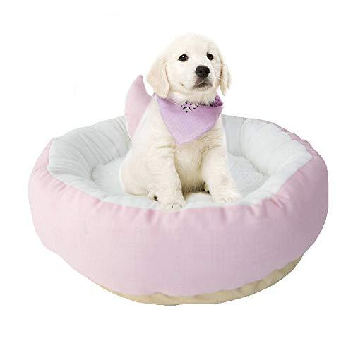 BVAGSS Soft Animale Domestico Letto Unico Divano Letto Morbido Sleeping Bed Cuccia per Gatti e Cani XH057 (L, Pink)