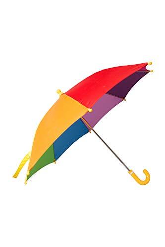 Mountain Warehouse Rainbow Schirm für Kinder - Farbenfroher Sonnenschirm, pflegeleichter Regenschirm - Offen: 40 cm - Für, Garten, Picknick und Veranda Marineblau